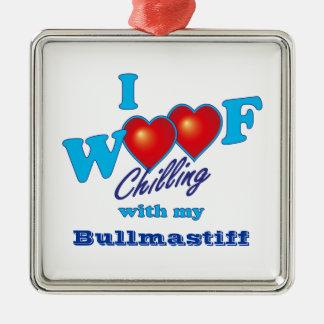 I Woof Bullmastiff メタルオーナメント