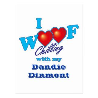 I Woof Dandie Dinmont ポストカード