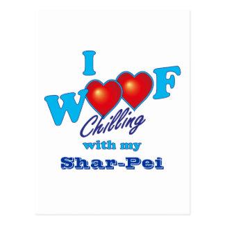 I Woof Shar-Pei ポストカード