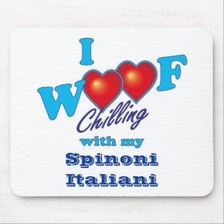 I Woof Spinone Italiano マウスパッド
