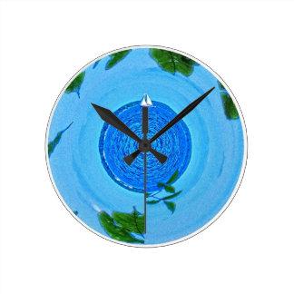 I would'eはむしろ航海しています ラウンド壁時計