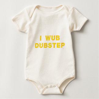 I Wub Dubstep (stiches) ベビーボディスーツ