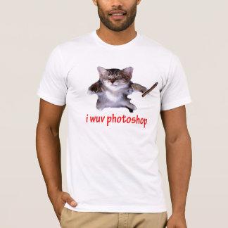 I wuvのPhotoshopのシガーの子猫! Tシャツ