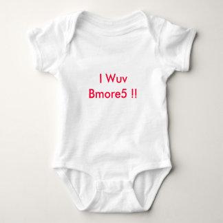 I Wuv Bmore5!! ベビーボディスーツ