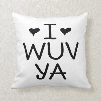 I Wuv Yaの枕 クッション