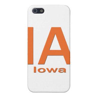 IAアイオワの明白なオレンジ iPhone 5 COVER