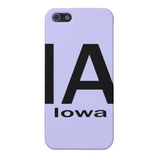 IAアイオワの明白な黒 iPhone 5 CASE