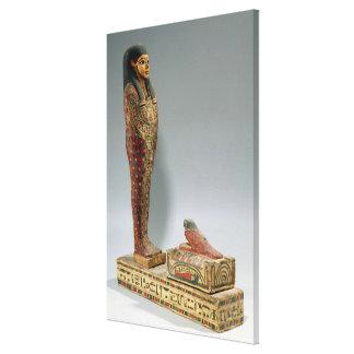 Iahmes (色彩の鮮やかな木)のOsirisの小像 キャンバスプリント