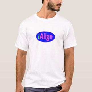iAlignのネオン緑、青く、および明るいピンク Tシャツ