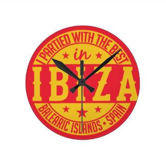 IBIZAスペインの柱時計 ラウンド壁時計