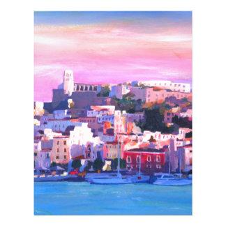 Ibiza Eivissa古い町および港の真珠 レターヘッド