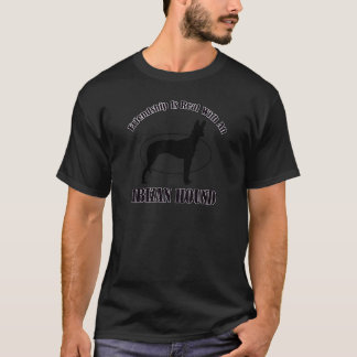 ibizanハウンドドッグのデザイン tシャツ