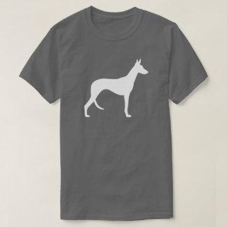 Ibizan猟犬のシルエット Tシャツ