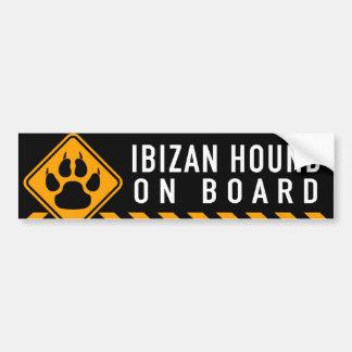 Ibizan猟犬船上に バンパーステッカー