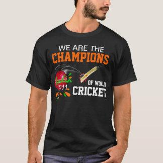 ICCワールドカップのコオロギのTシャツのインド2011Champs Tシャツ