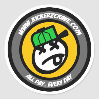 IceKreamの人のロゴのステッカー(小さい) ラウンドシール