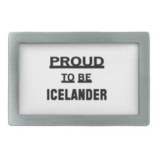 Icelanderあること誇りを持った 長方形ベルトバックル