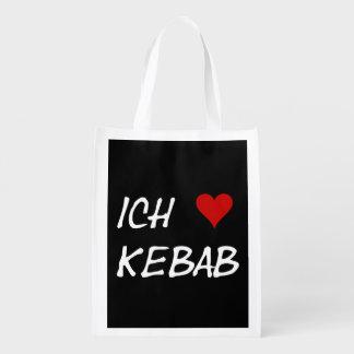 Ich Liebe Kebab I愛kebabのDeutscheのドイツ語 エコバッグ