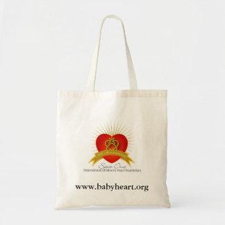 ICHFは1つのロゴ、www.babyheart.orgを救います トートバッグ