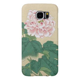 Ichimiosaiの蜂およびシャクヤクの花のヴィンテージのファインアート Samsung Galaxy S6 ケース