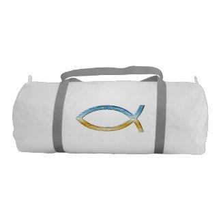 Ichthusのキリスト教の魚の記号 ジムバッグ