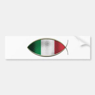 Ichthus -イタリアンな旗 バンパーステッカー