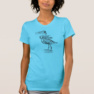 Ichthyornisの鳥の魚の化石のティー Tシャツ