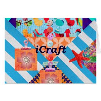 iCraftのスクラップブック作りおよびボタンの技術のギフト カード