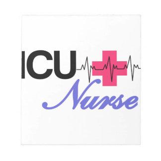 ICUのナース ノートパッド