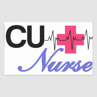 ICUのナース 長方形シールステッカー