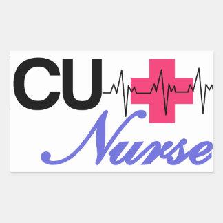 ICUのナース 長方形シール