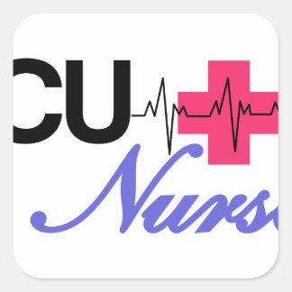 ICU ナース 正方形シールステッカー