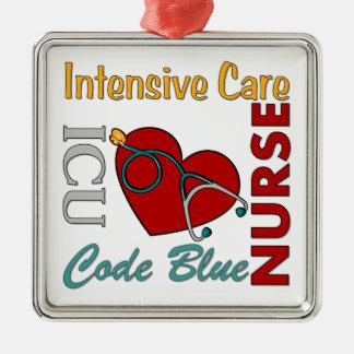 ICU -ナース メタルオーナメント