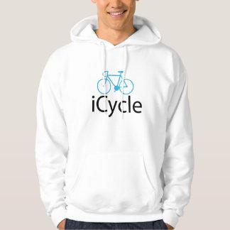 iCycleの青のバイク パーカ