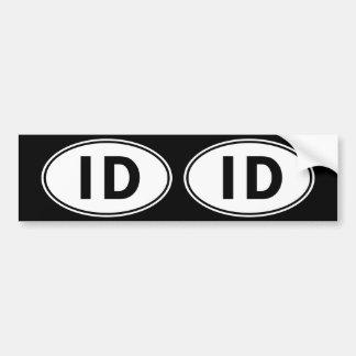 IDの楕円形のアイデンティティの印 バンパーステッカー