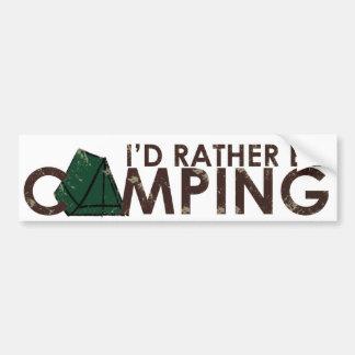 IDはむしろキャンプのコピーです バンパーステッカー