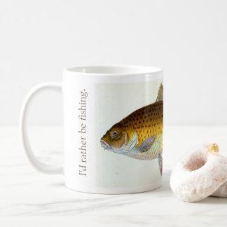 I'd rather be carp fishing Mug コーヒーマグカップ