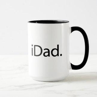 iDad。 ロゴ(iのパパ) マグカップ