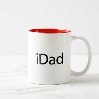 iDad (iのパパ) -パパのためのマグちょうど ツートーンマグカップ