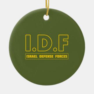 IDFイスラエル国防軍3 -英語-十分に セラミックオーナメント