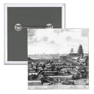Ido、日本の帝国宮殿 5.1cm 正方形バッジ