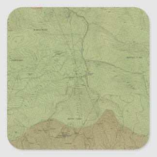 Idria新しい地区の地質地図 スクエアシール