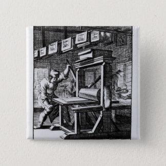 「Ietsのvoorからの銅版の彫刻家、 5.1cm 正方形バッジ