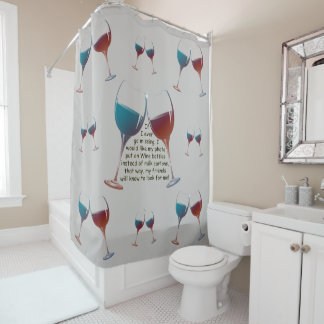 If I ever go missing, fun saying Shower Curtain シャワーカーテン