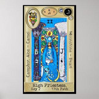 Ifdawn Deepdreamのタロットの鍵2の~高い尼僧 ポスター