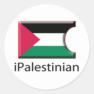 iFlagパレスチナ ラウンドシール