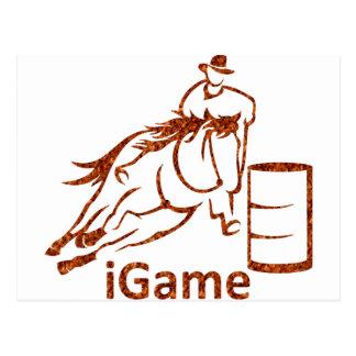 iGameのバレルの競走馬 ポストカード