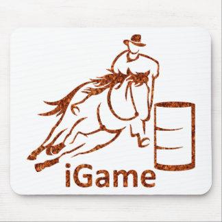 iGameのバレルの競走馬 マウスパッド