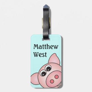 Iggy豚のようなバッグのラベル ラゲッジタグ