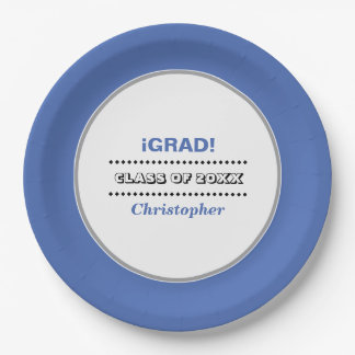 iGrad。 名前入りな卒業パーティーの紙皿 ペーパープレート